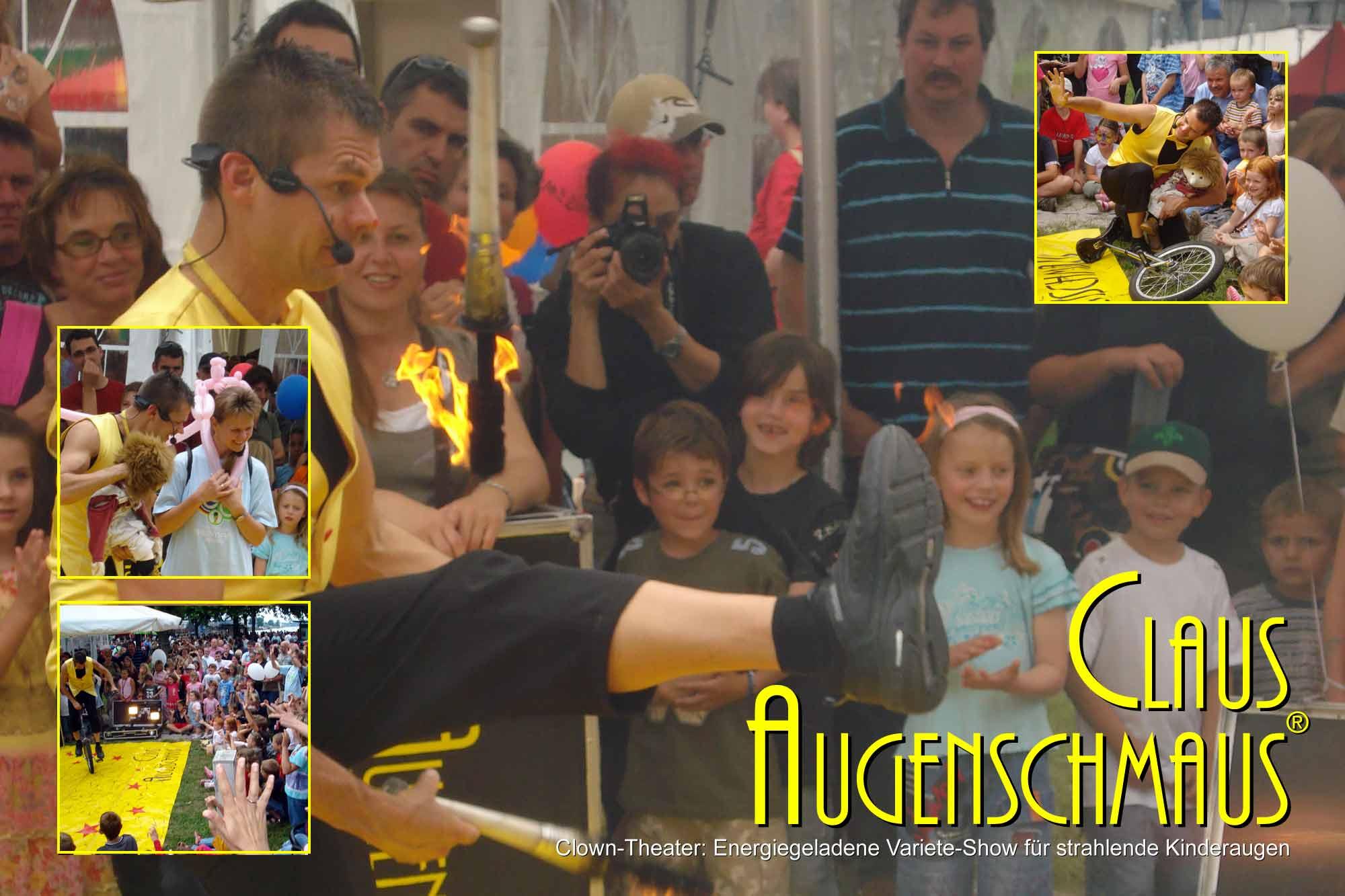 Clown-Theater beim Straßenfest