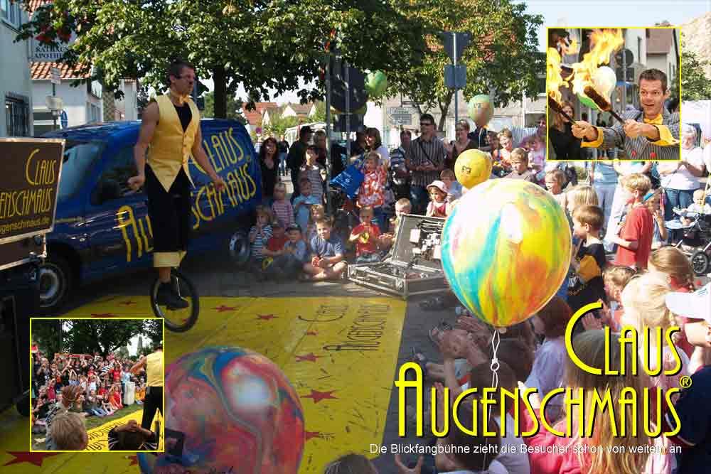 Karlsruhe Sommerfest mit Clowns.